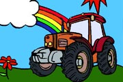 Play Colorful Tractor Coloring